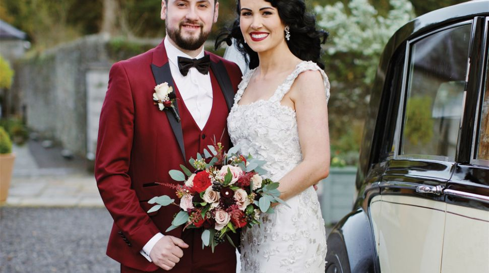 Cat and Garry's glamourous, Tankardstown House wedding