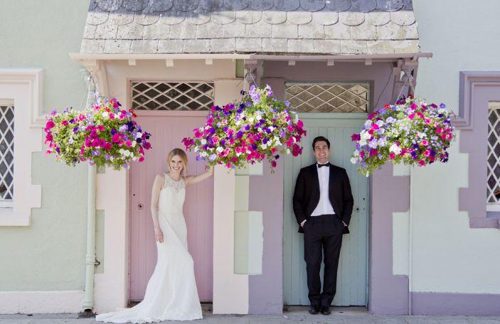 Beautiful bridal fashion at Trim Castle, Co Meath