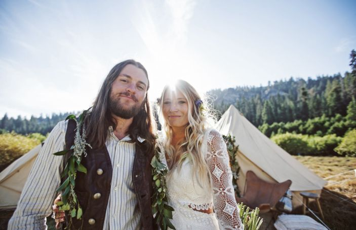 Brit and Jeff's hippie-chic real wedding