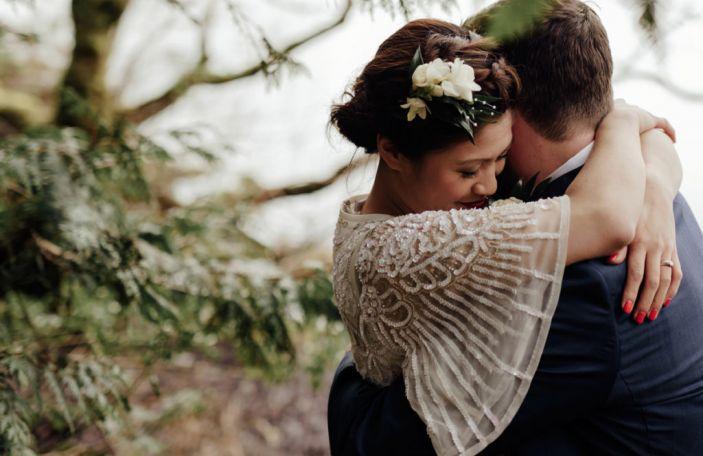 Sari & Ciaran's real wedding at Lough Eske Castle