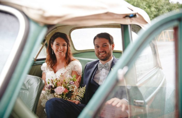 Marianne and John's colourful, festival feel wedding at Mount Druid