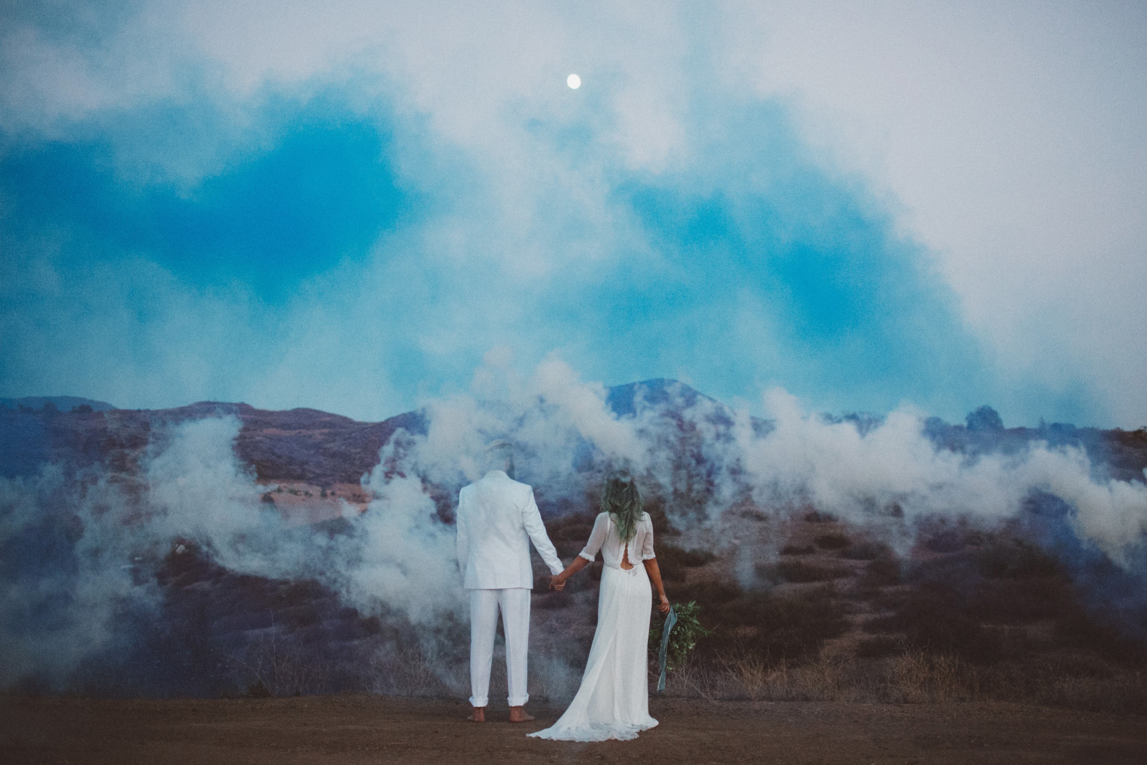 Smoke bomb inspired wedding shoot | Confetti ie