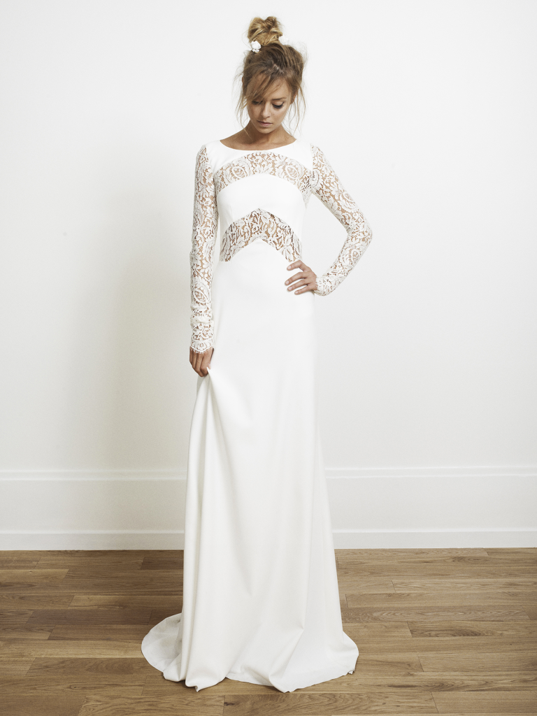 Above The Lace Cut Out Design On This Olsen Gown By Rime Arodaky Is Absolutely Stunning Simple Yet Beautiful Available At White Gallery