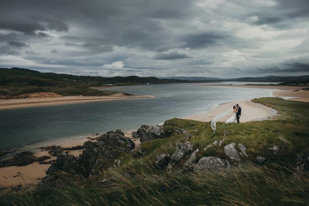 irish coastal wedding