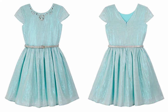 debenhams yumi girl green metallic