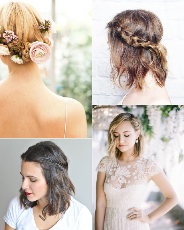 Braided Hairstyles For Brides With Short Hair