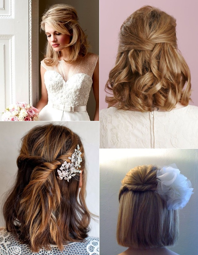 Fine 9 Short Wedding Hairstyles For Brides With Short Hair Confetti Ie Short Hairstyles Gunalazisus