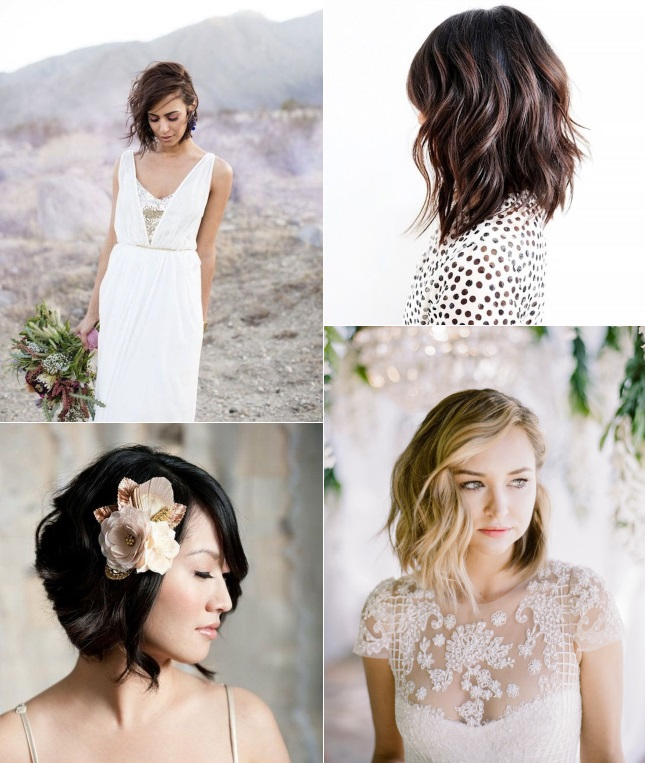 9 Short Wedding Hairstyles For Brides With Short Hair Confettiie