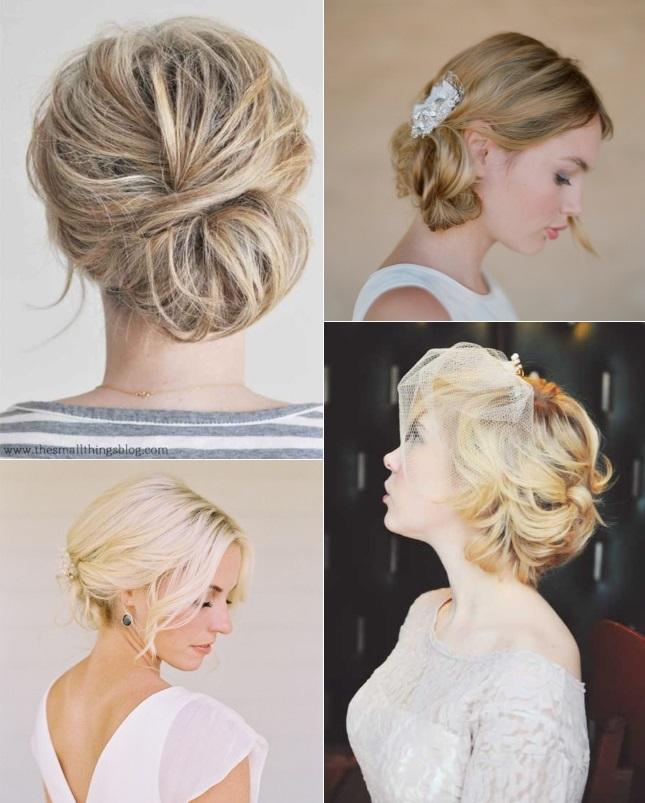 Stupendous Bridal Hair Updos For Short Short Hair Fashions Short Hairstyles Gunalazisus