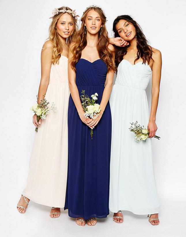 Asos Bandeau Chiffon Maxi Dress 60 1 These Dresses