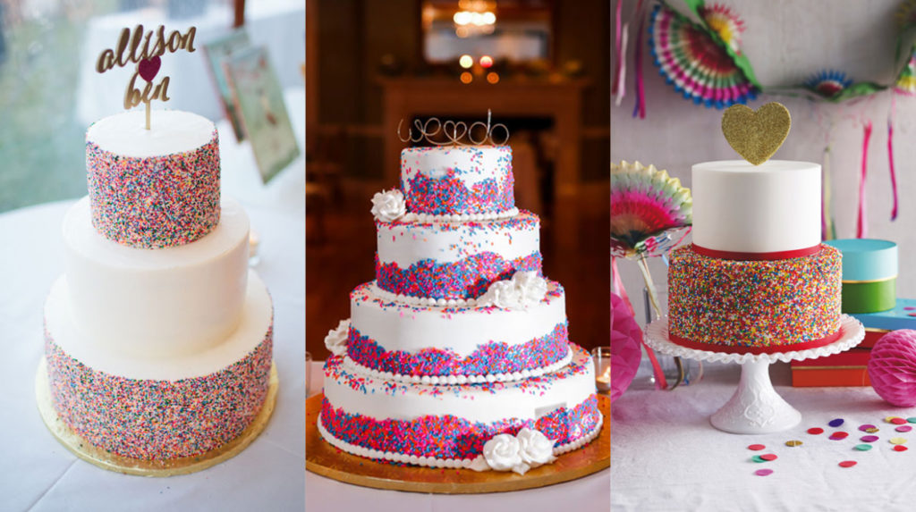 wedding cake with sprinkles a sprinkle of colour 2016 s most wedding cake trend 26963