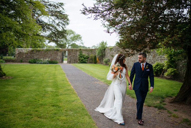 Lavender love at Elaine and Kevin's wedding at Tankardstown House