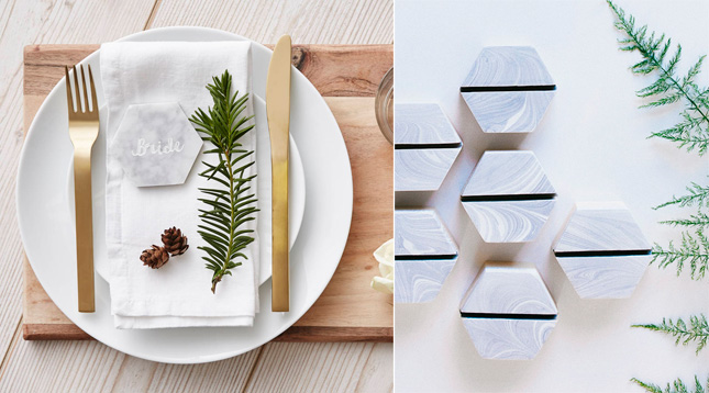 marble-wedding-place-settings