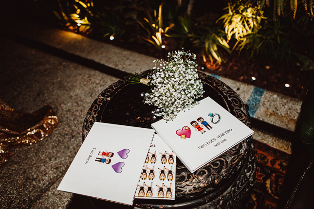 emoji-filled wedding