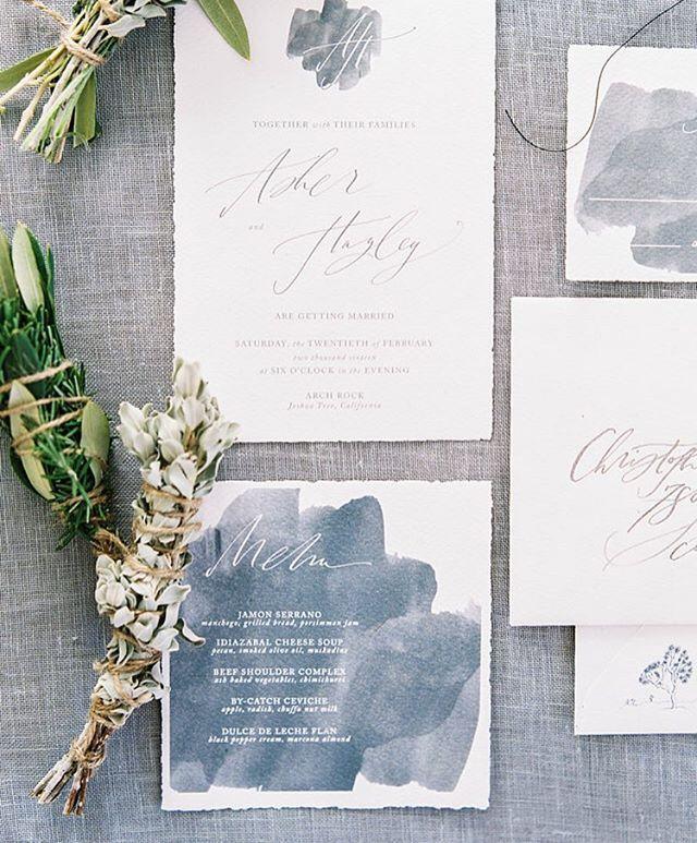 Something Blue Fab Slate Wedding Details
