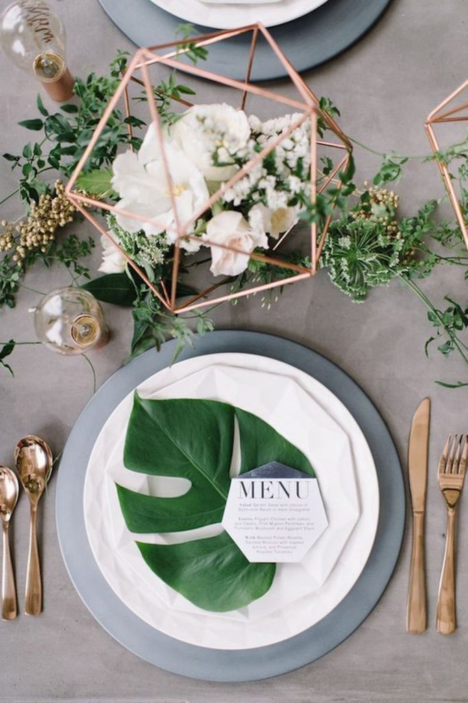 geometric wedding details
