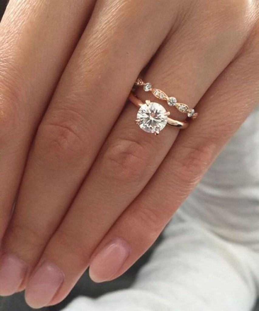 This is the most pinned engagement ring on pinterest confetti so its not surprising that over 103900 people have pinned this one engagement ring its a sparkling rose gold solitaire and its proof that this year at junglespirit Images