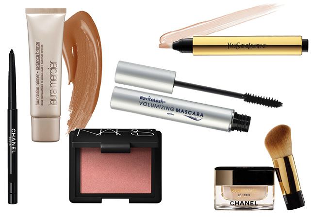 3acc12f0c90 Meghan keeps her makeup pretty simple, preferring to enhance, rather than  conceal. To amplify her already glowing skin, she starts with Laura  Mericer's ...