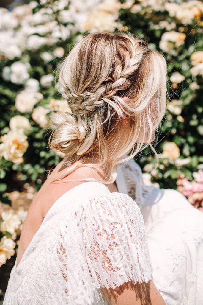 undone wedding hair