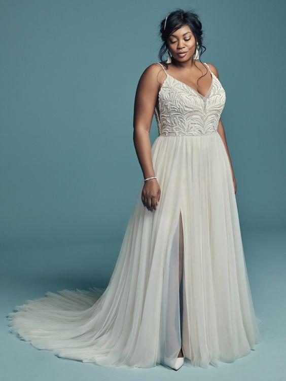 sexy wedding dresses plus size