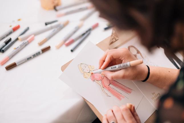 Wedding illustrator Linda Byrne at The Wedding Planner launch 2018