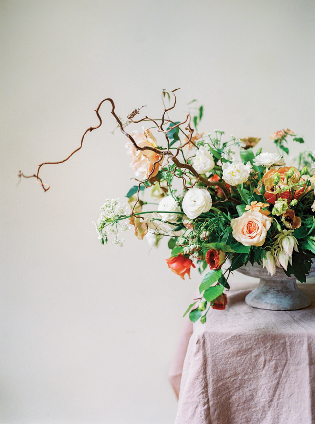 Wedding flowers by Anthesis Floral at Kilshane House, shot by Into The Light