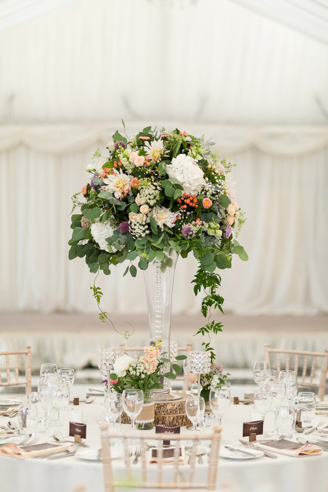 Clonabreany House wedding table setting