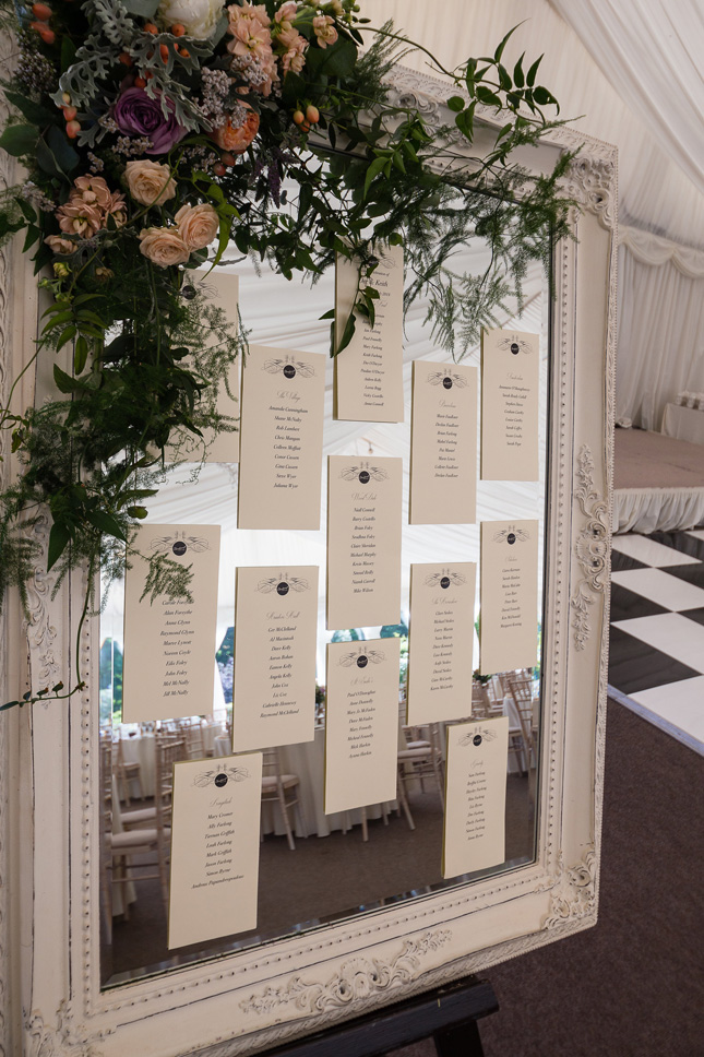 Clonabreany House wedding table plan