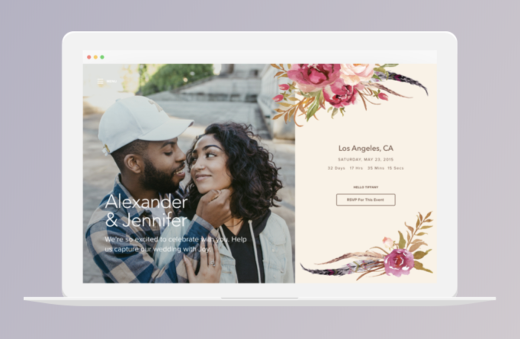 wedding website builder with joy