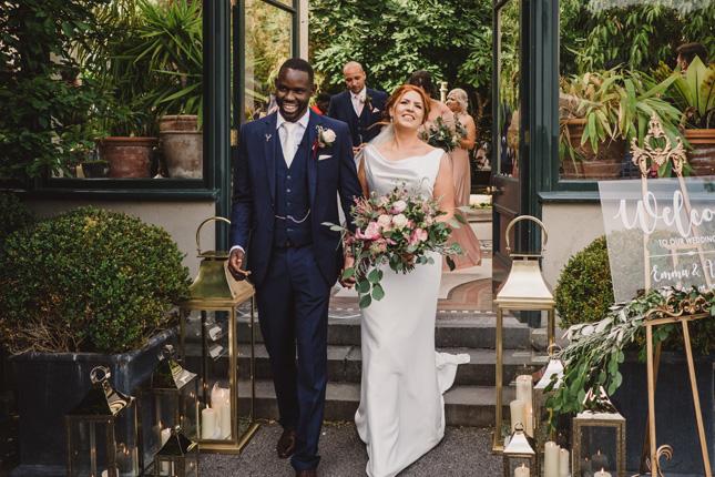 Irish summer wedding reception line