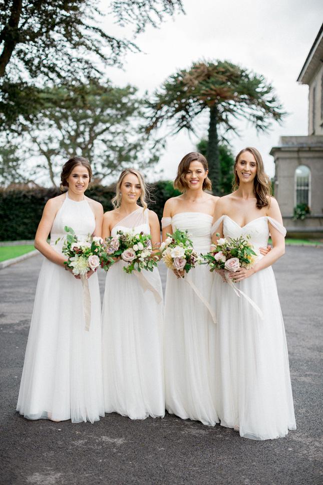 virginia park lodge wedding white bridesmaids dresses