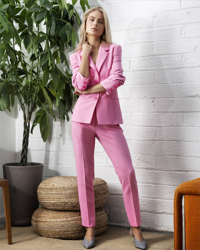 Pink suit to wear to a wedding