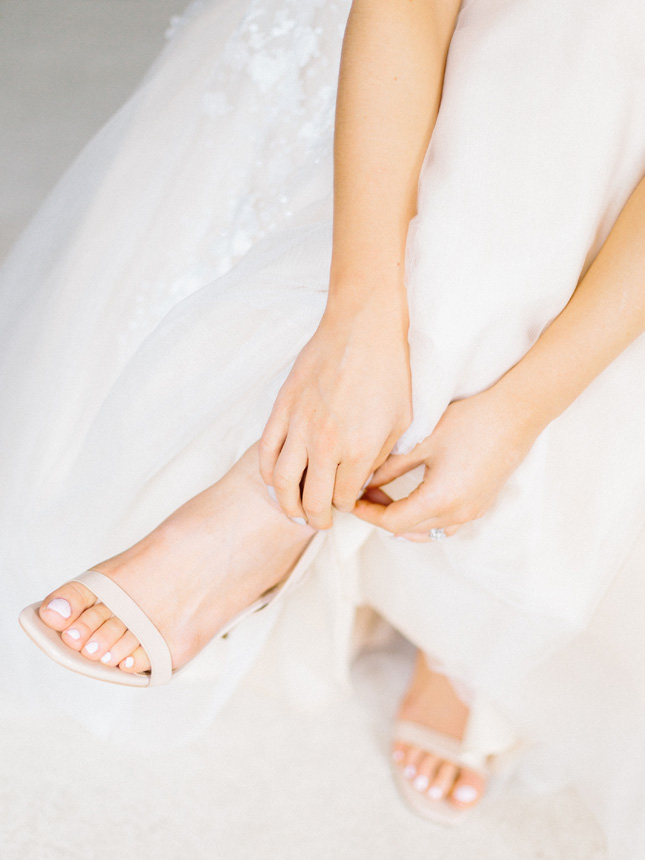 where to shop for strappy wedding shoes