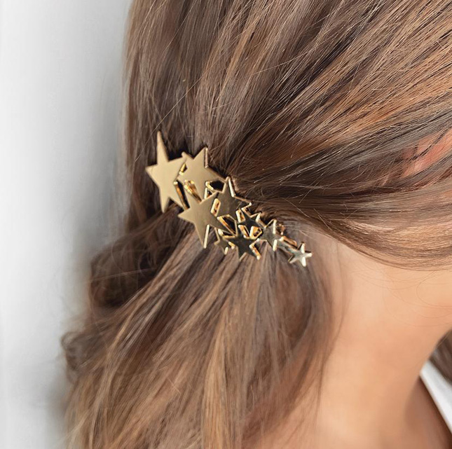 Star hair clips gold