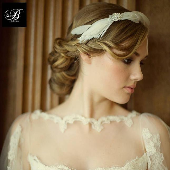 Feather headdress wedding