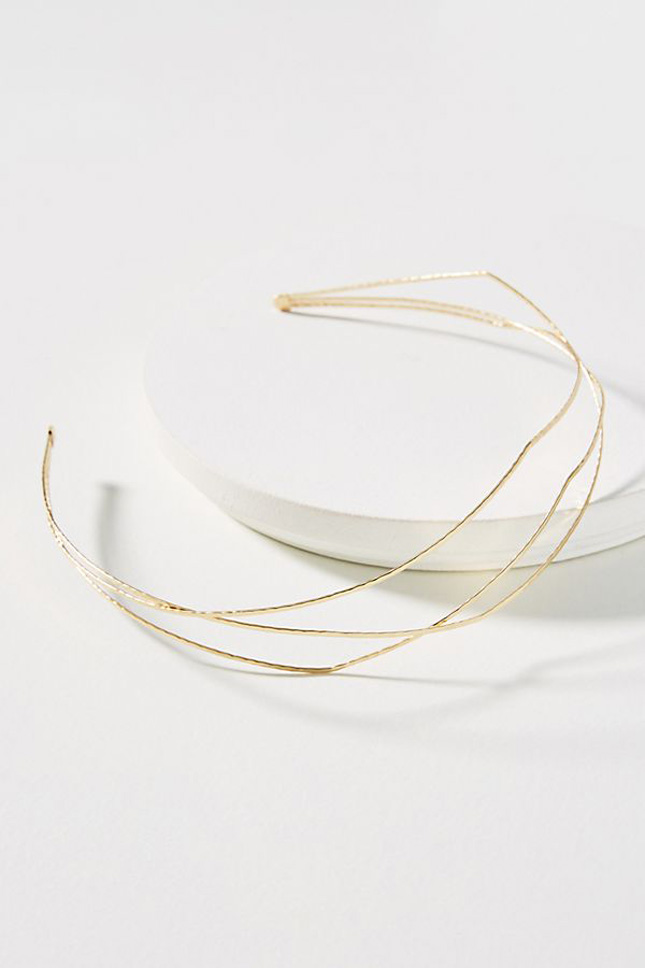 Delicate gold hairband