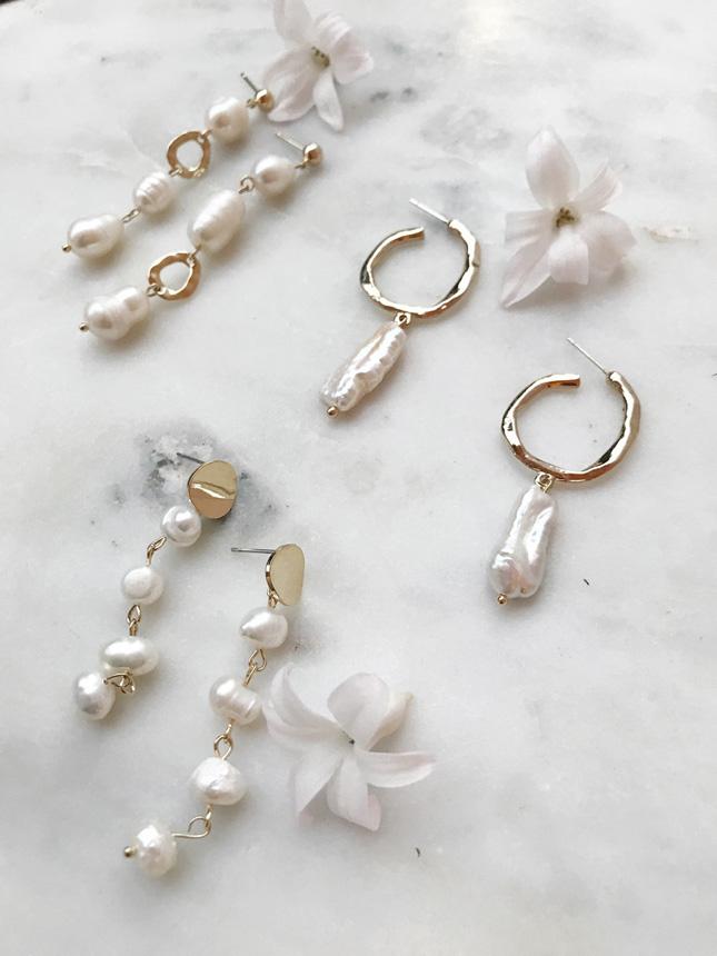 wedding pearl earrings
