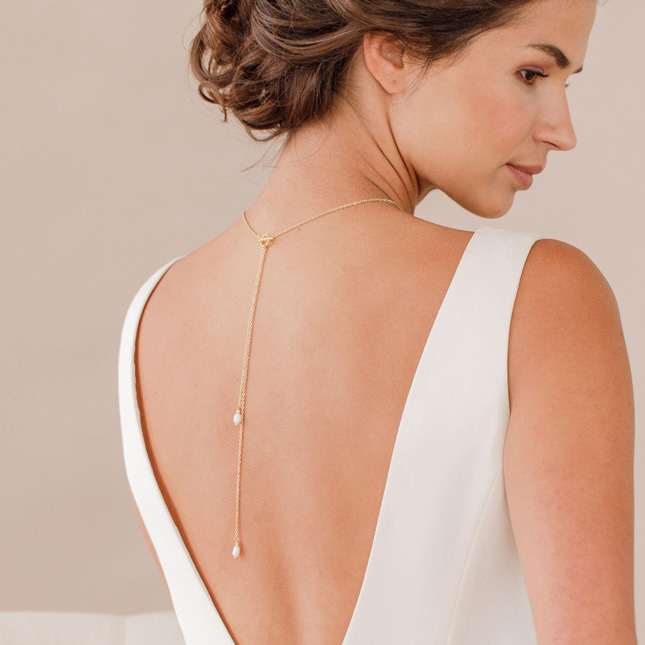 wedding accessories back chain