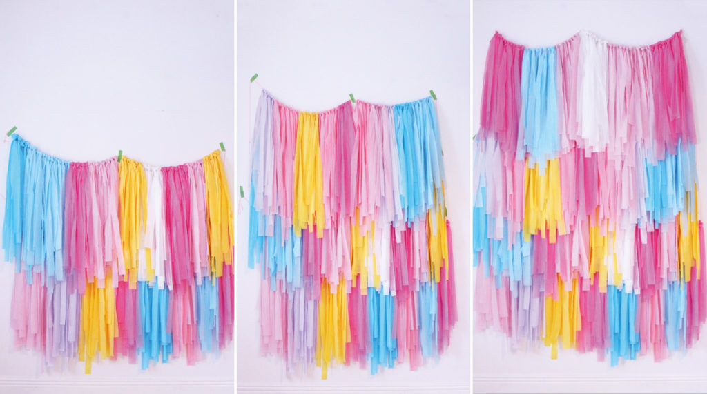 diy tassel wall