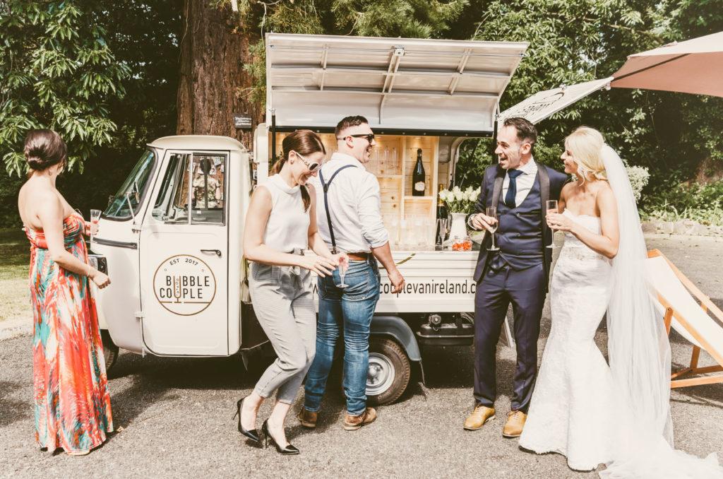 food trucks wedding drinks van prosecco