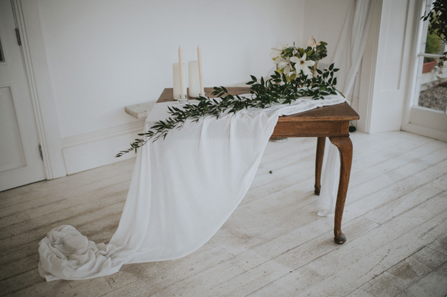 greenery wedding decor