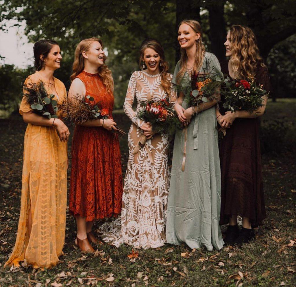 Buy autumn colours bridesmaid dresses> OFF 20