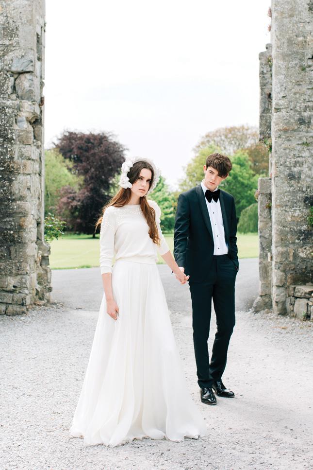 contemporary wedding dress