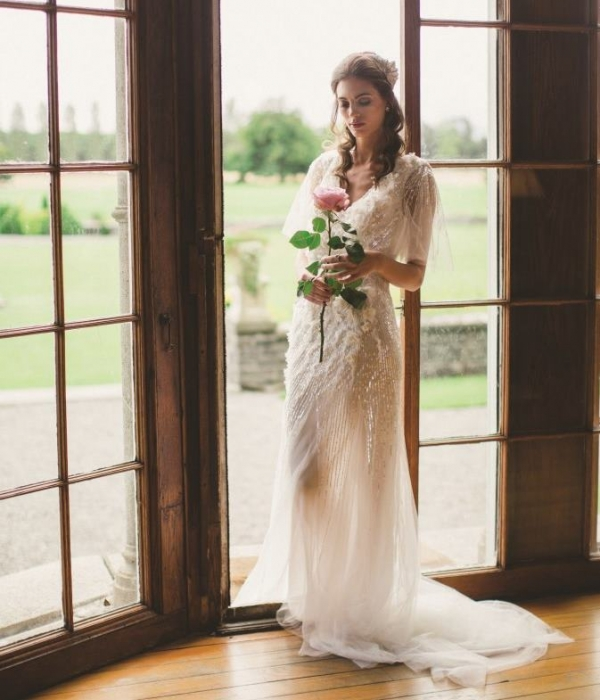 romantic bridal fashion shoot at luttrellstown castle