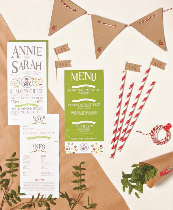 Little Ivory Weddings carnival wedding stationery and bunting
