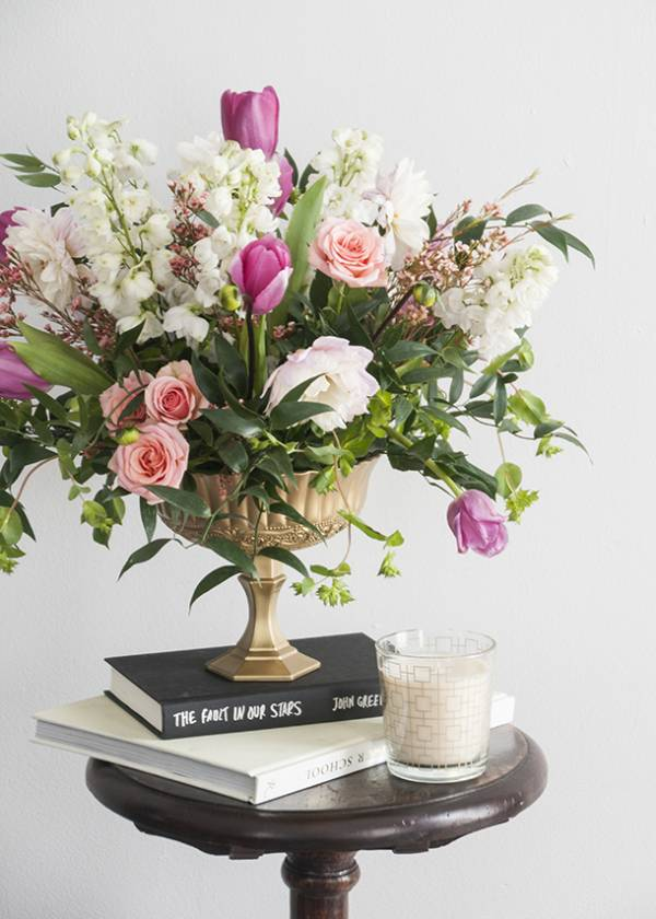 Diy Footed Gold Flower Vase Confetti